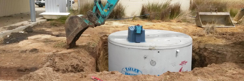 Aerobic wastewater installations