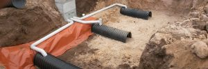 Soakage trench system for wastewater treatment